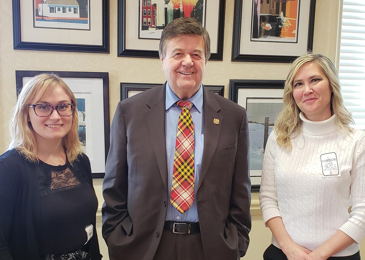 Bailee Henderson, Senator Ronald Young, Nicole Green