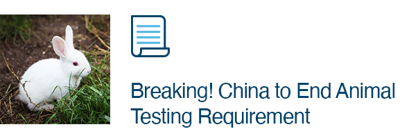Breaking! China to End Animal Testing Requirement